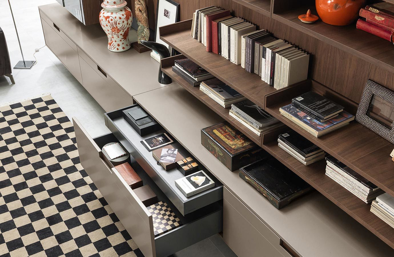 Modern Living Room Cabinet with Drawers